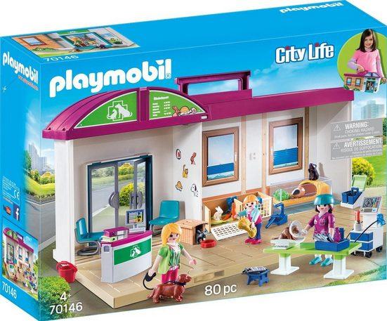 Playmobil® Konstruktions-Spielset »Mitnehm-Tierklinik (70146)«, City Life