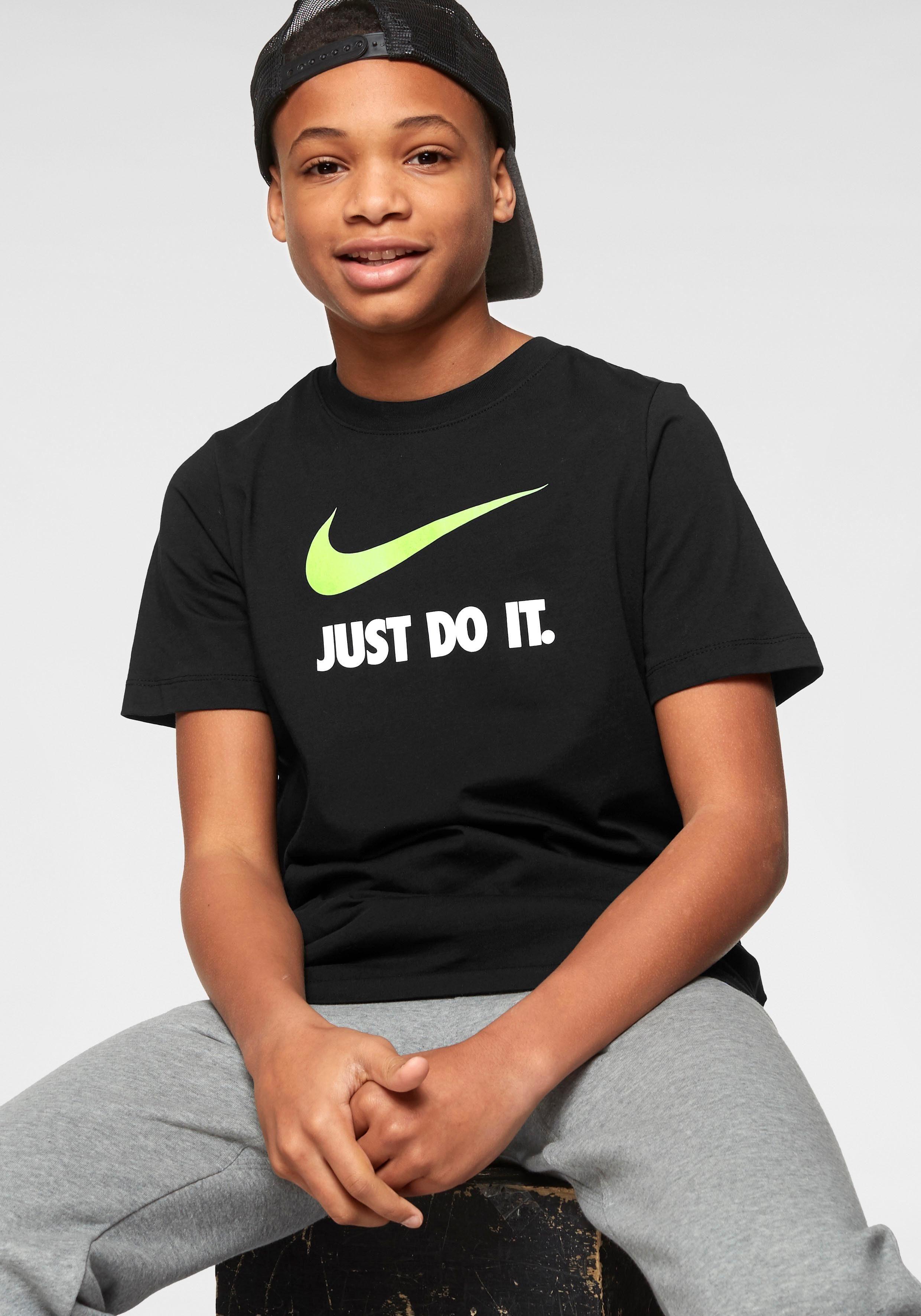 Nike Boys Just Do It Swoosh Tee