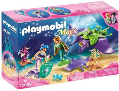 Playmobil® Konstruktions-Spielset »Perlensammler mit Rochen (70099)«, Magic