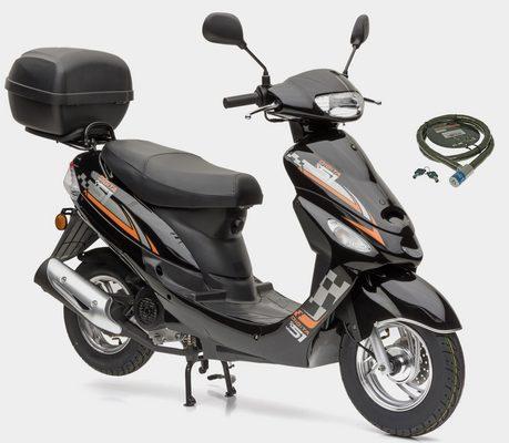Nova Motors Motorroller »City Star«, 49 ccm, 45 km/h, Euro 4, (Set, mit Topcase), 49 ccm, 45 km/h