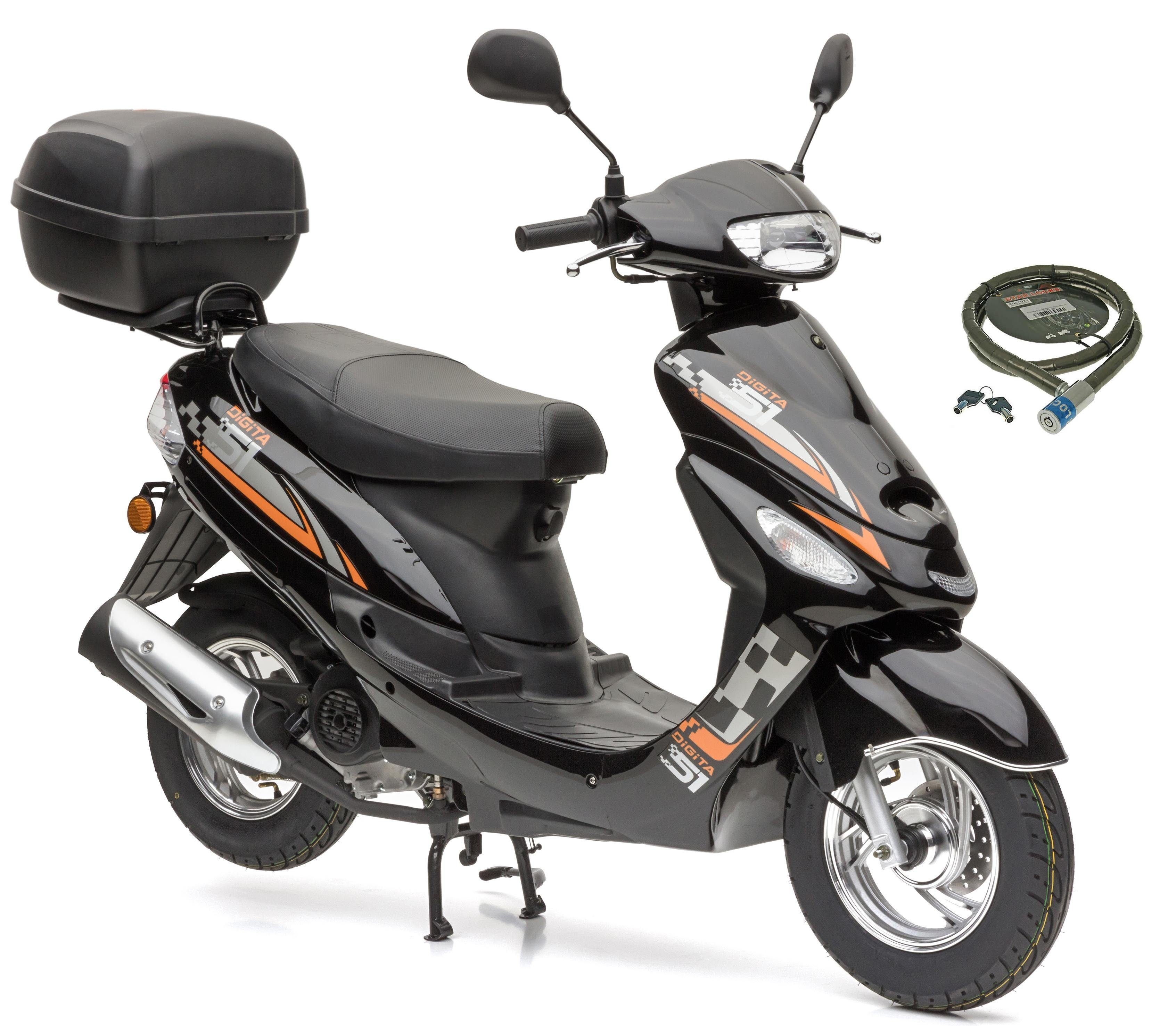Nova Motors Motorroller »City Star«, 49 ccm, 45 km/h, Euro 4, (Set, mit Topcase), inkl. Topcase, 49 ccm, 45 km/h