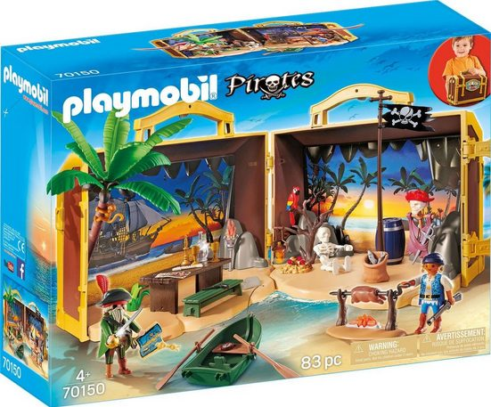 Playmobil® Konstruktions-Spielset »Mitnehm-Pirateninsel (70150)«, Made in Germany