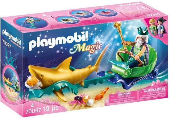 Playmobil® Konstruktions-Spielset »Meereskönig mit Haikutsche (70097), Magic«, Made in Germany