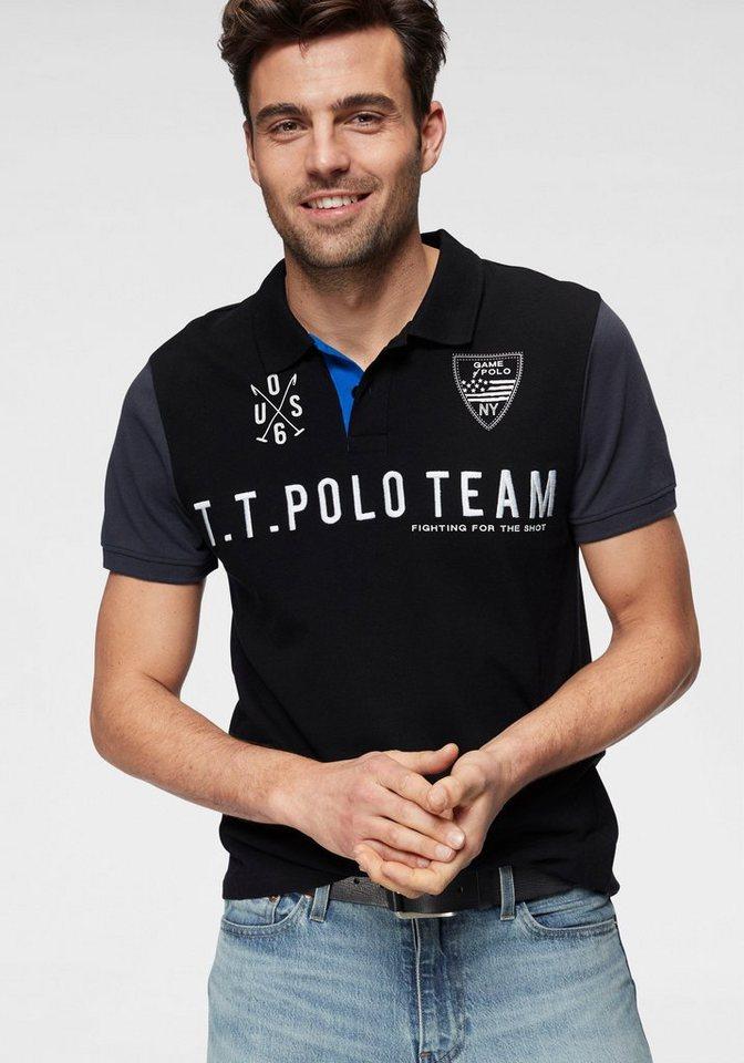 58b167990b488d TOM TAILOR Polo Team Poloshirt mit großer Logostickerei online ...