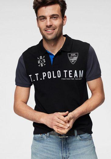 TOM TAILOR Polo Team Poloshirt mit großer Logostickerei