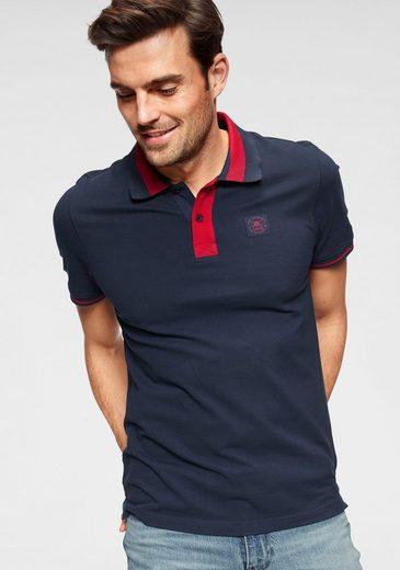 TOM TAILOR Polo Team Poloshirt mit kontrastfarbenen Details