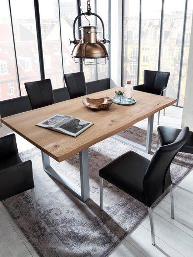 SIT Esstisch »Tops&Tables« mit Tischplatte aus Wildeiche, mit Baumkante wie gewachsen
