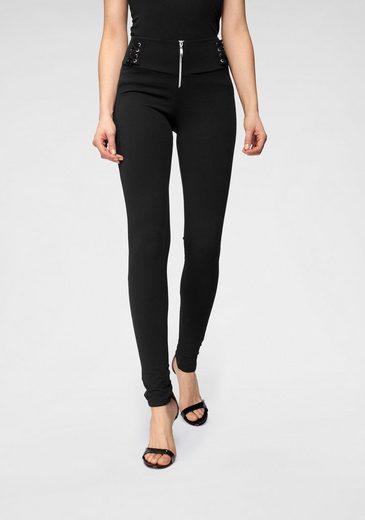 Melrose Stretch-Hose aus Jersey mit Schnür-Detail
