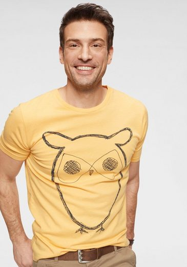 KnowledgeCotton Apparel T-Shirt mit Eulen-Print