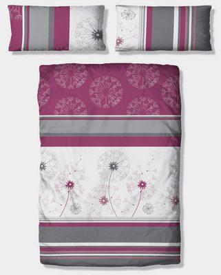 Bettwäsche »Millas«, my home, mit Streifen und zartem Blumenmuster