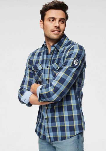 Rhode Island Рубашка в клетку mit aufwendigem Karomuster