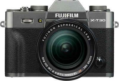 FUJIFILM »X-T30 + XF 18-55mm F 2,8-4 R« Systemkamera (FUJINON XF 18-55mm F2,8-4 R LM OIS, 26,1 MP, Bluetooth, WLAN (Wi-Fi)