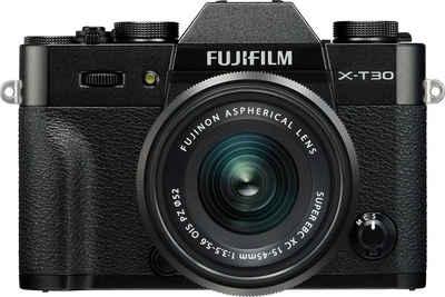 FUJIFILM »X-T30 + XC 15-45mm F 3,5-5,6 OIS« Systemkamera (FUJINON XC 15-45mmF3,5-5,6 OIS PZ, 26,1 MP, Bluetooth, WLAN (Wi-Fi)