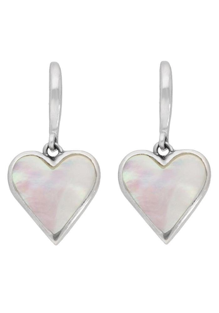 Firetti Paar Ohrhaken »Herzen« mit Perlmutt