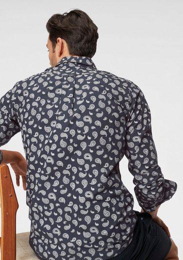 Paisley Mit muster Knowledgecotton Apparel Langarmhemd t7wFF1