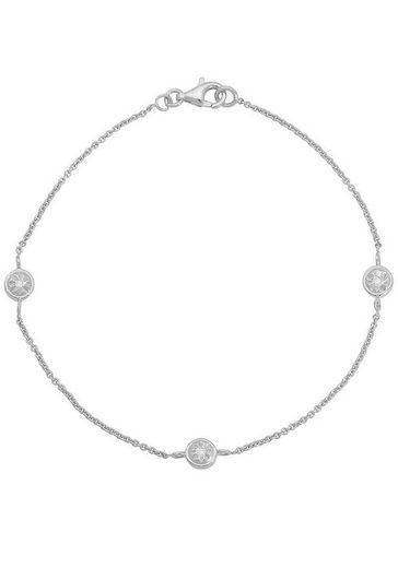 Firetti Silberarmband »Glanz, rhodiniert, diamantiert«, mit Diamanten