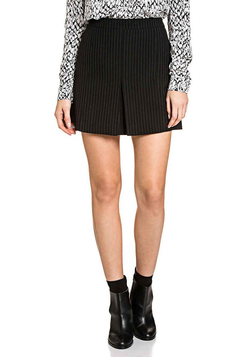 Vila Minirock »VILA Vinay Skirt Mini-Rock eleganter Damen Business-Rock Sommer-Rock Schwarz/Weiß«