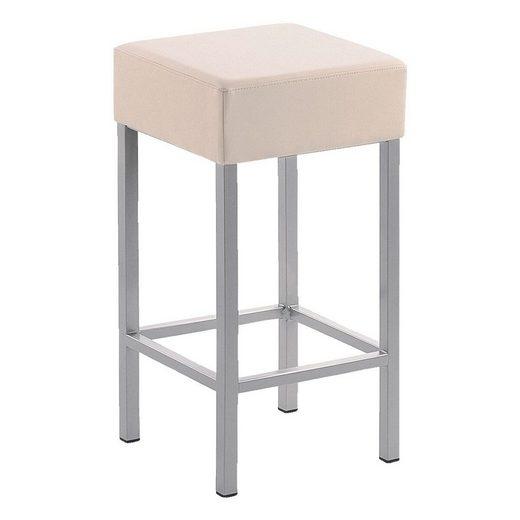 Mayer Sitzmöbel Barhocker »Cubus«, Sitzhöhe 64 cm, mit Fußstütze