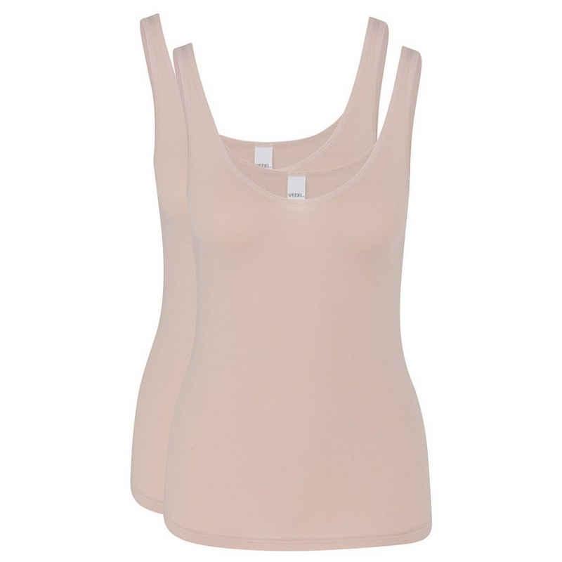 Speidel Unterhemd »2er Pack Softfeeling« (2 Stück), Trägerhemd - Flache, extra weiche Abschlüsse, Keine störenden Seitennähte, Feine Baumwoll-Modal-Qualität