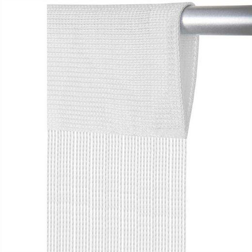 Vorhang, Arsvita, Stangendurchzug (1 Stück), Fadengardine, individuell kürzbare Gardine, in vielen Ausführungen