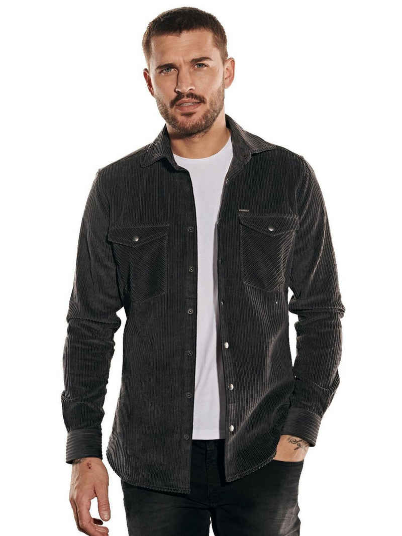 emilio adani Hemd »Langarm-Hemd aus Breitcord«