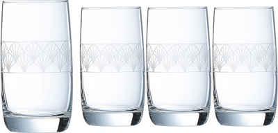 Luminarc Longdrinkglas »Paradisio«, Glas, mit Pantographie-Optik, 4-teilig