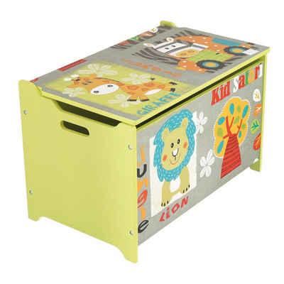 BIECO Spielzeugtruhe »Bieco Spielzeugtruhe und Sitzbank Aufbewahrungsbox Kinder Holzkiste mit Deckel Sitzbank mit Stauraum Spielzeugkiste mit Deckel Truhe Holz Aufbewahrung Kinderzimmer Spielzeugkiste Holz«