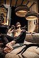 think paper Hängeleuchte »Dandy 290«, schicke Deckenleuchte, Beleuchtung mit Stil, handarbeit, umweltfreundliches Unikat, Deckenlampe, Bild 5