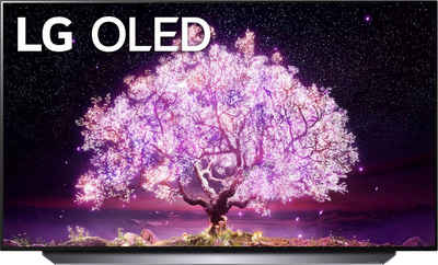 LG OLED55C17LB OLED-Fernseher (139 cm/55 Zoll, 4K Ultra HD, Smart-TV, (bis zu 120Hz), α9 Gen4 4K AI-Prozessor, Twin Triple Tuner, Sprachassistenten, HDMI 2.1)