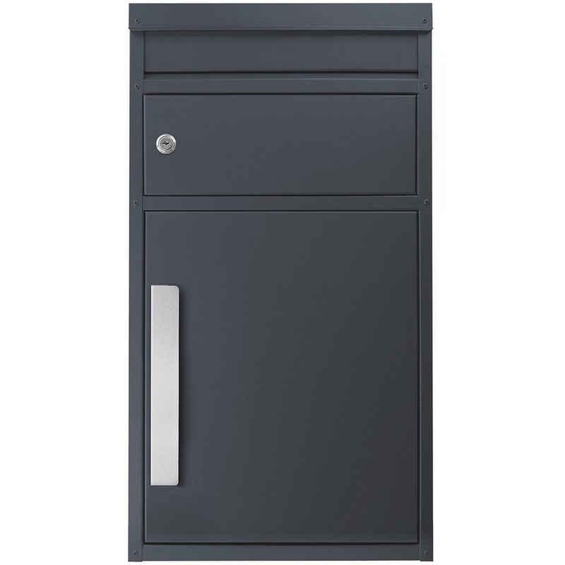SafePost Briefkasten »Paketbriefkasten SafePost 45M anthrazit-grau (Ral 7016) Design-Paketkasten modern«