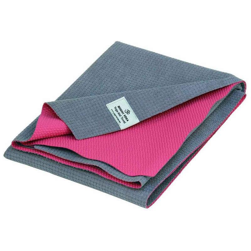 bodhi Sporthandtuch »Yoga-Handtuch towel mat YATRA, Microfaser mit TPE-Beschichtung grau/pink«