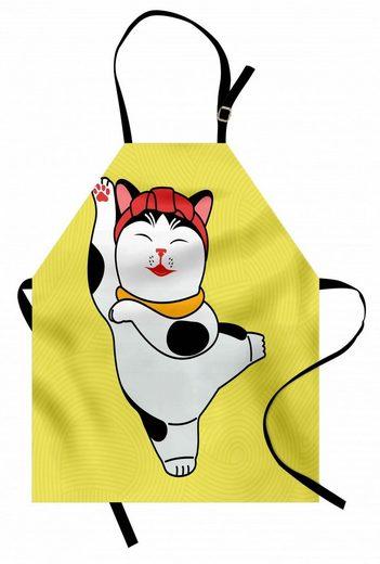 Abakuhaus Kochschürze »Höhenverstellbar Klare Farben ohne verblassen«, japanische Katze Sportlich Maneki Neko