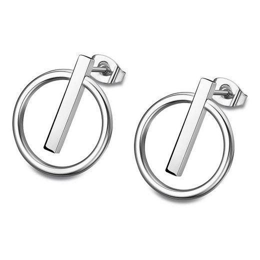 Lotus Style Paar Ohrstecker »JLS1886-4-1 Lotus Style Ohrringe silber LS1886-4/1« (Ohrstecker), Ohrstecker für Damen Edelstahl (Stainless Steel)
