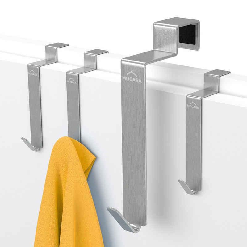 Türhaken »Türhaken für die Tür Rückseite«, MDCASA, Innentüren Rückseite, Zimmertüren Innenseite, (Set, 4 Stück), speziell für die Tür Innenseite