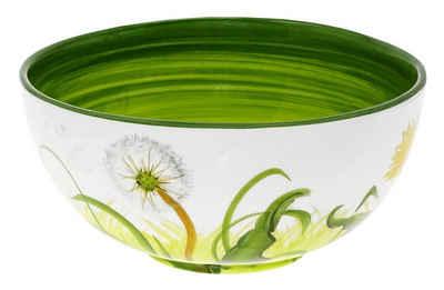 Lashuma Obstschale »Pusteblume«, Keramik, Servierschüssel rund, Salatschale 22 cm