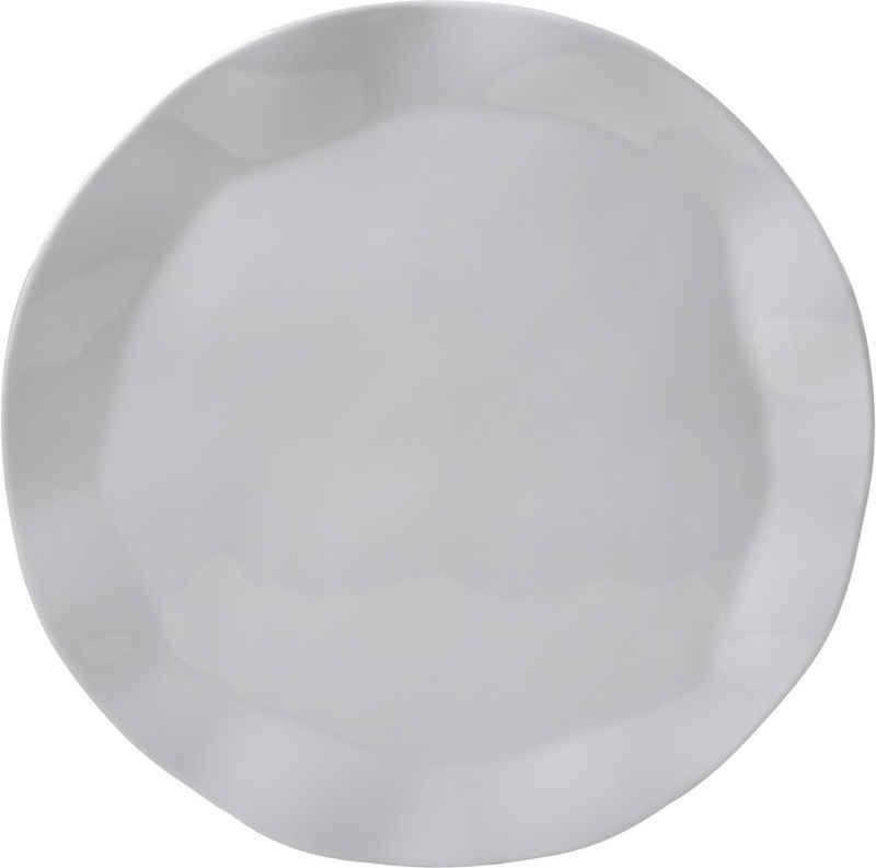 Q Squared NYC Pizzateller »Ruffle Round Collection«, (2 Stück), Ø 33 cm, Melamin