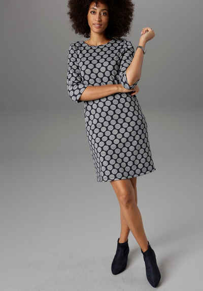 Aniston SELECTED Jerseykleid mit Punkten & Streifen