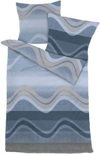 Bettwäsche »WAVES«, Dormisette, Streifenoptik mit harmonischen Wellen kuschelweich Biber