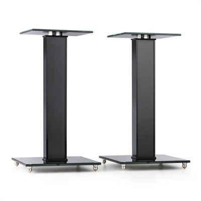 Auna »BS-03S-BK Lautsprecher-Ständer Paar Aluminium Glas MDF Kabelkanal Spikes« Lautsprecherständer