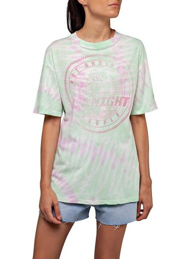 Replay T-Shirt im Batik-Design mit großem Print