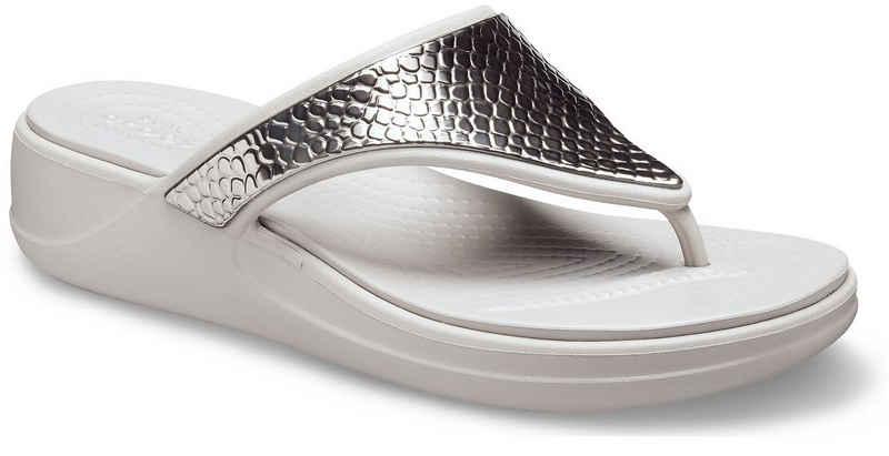 Crocs »Monterey Metallic« Zehentrenner in Metallic-Optik