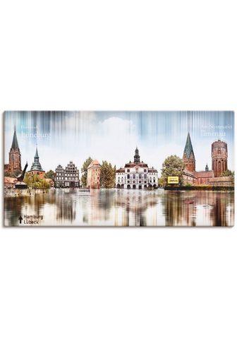 Artland Paveikslas »Lüneburg Skyline Abstrakte...