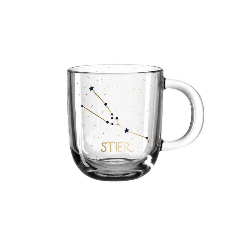 LEONARDO Tasse »Astro Becher Sternzeichen Stier 0,3l«, Glas