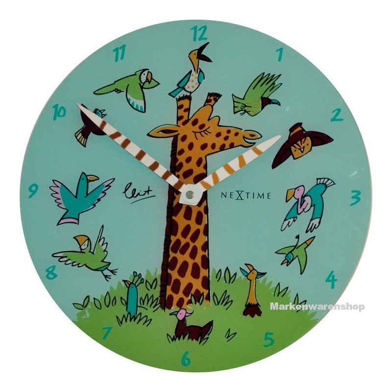 NEXTIME Wanduhr »Wanduhr Kinderzimmer Kinderzimmeruhr Kinder Uhr Giraffe Joy 30cm Nextime 8811«