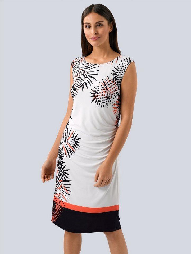 alba moda -  Sommerkleid mit seitlichem Blätterdessin