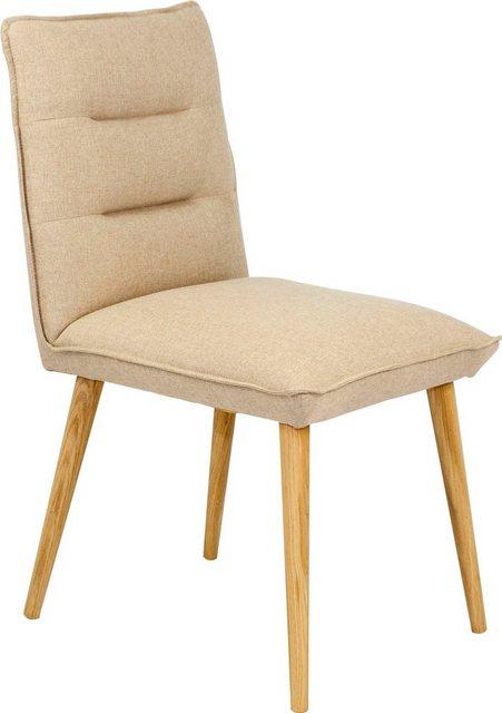 Stühle und Bänke - Home affaire Polsterstuhl »Parma« (Set, 2 Stück), aus massiver Eiche natur  - Onlineshop OTTO