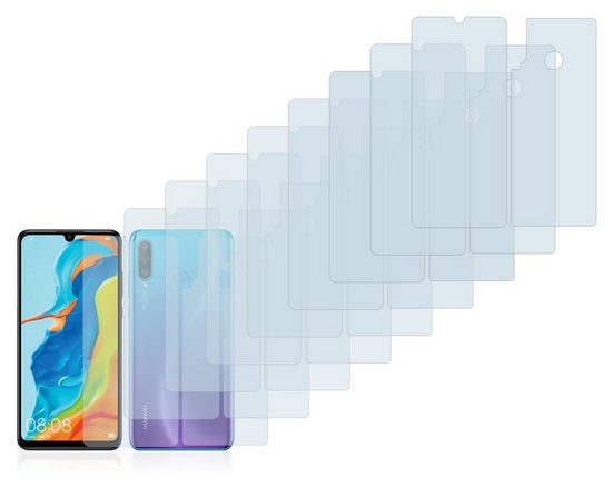 Savvies Schutzfolie »für Huawei P30 lite (Vorder + Rückseite)«, (18 Stück), Folie Schutzfolie klar
