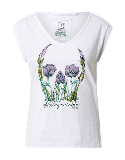 Derbe T-Shirt »Flower Skull Girls C2C« (1-tlg)
