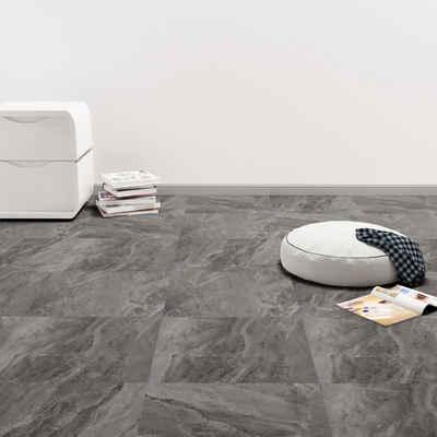 vidaXL Fußboden »vidaXL PVC Laminat Dielen Selbstklebend 5,11 m² Schwarz mit Muster«
