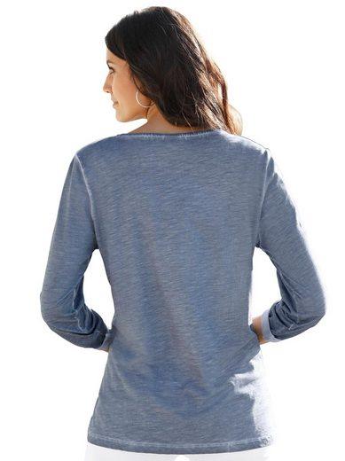 Classic Inspirationen Shirt in brandaktueller »oil dyed«-Optik